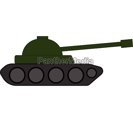 clipart of panzer over white background