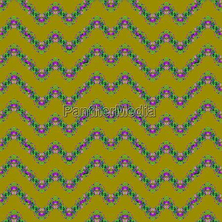seamless regular zigzag pattern olive green