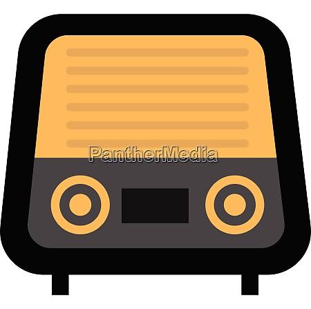 clipart of radio vintage vector or