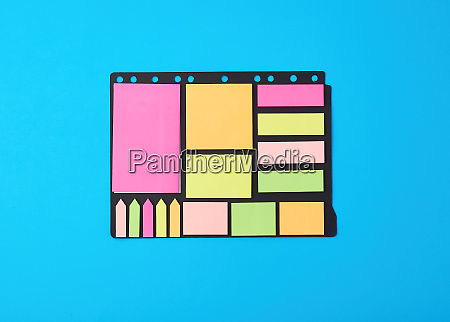 various blank paper multicolored stickers