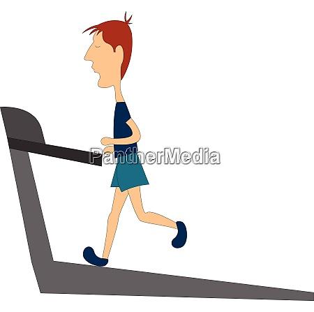clipart of a skinny boy running