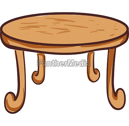 drawing of the round wooden dining