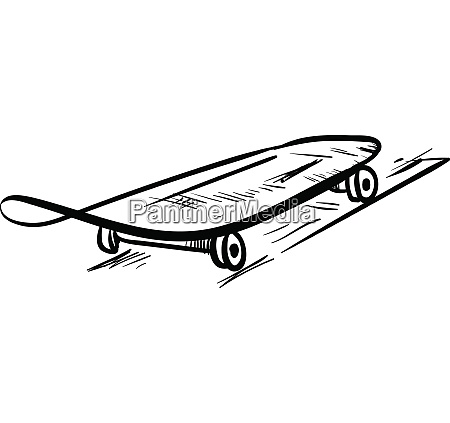 sketch drawing of the skateboard in