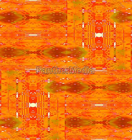 regular intricate pattern orange red white