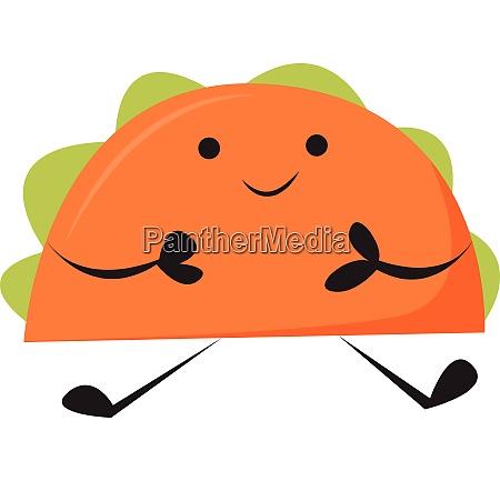 emoji of the happy taco vector