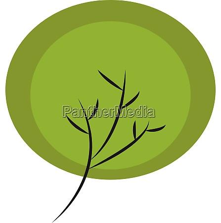 portrait of the black tree vector