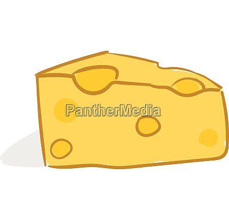 drawing of a yellow cheese vector