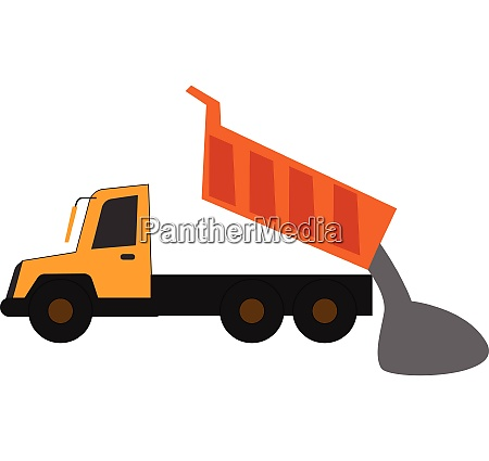 clipart of a yellow dump truck