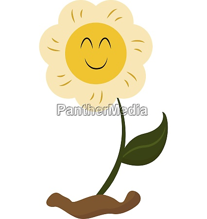 emoji of a smiling yellow flower
