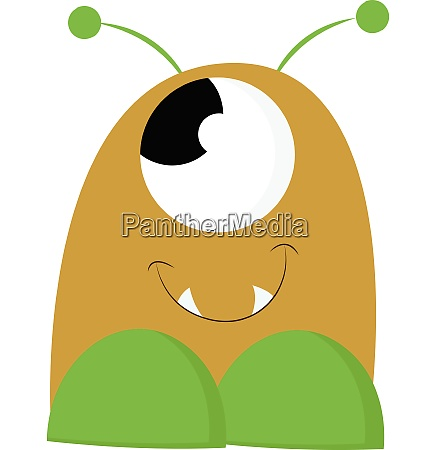 baby monster vector or color illustration