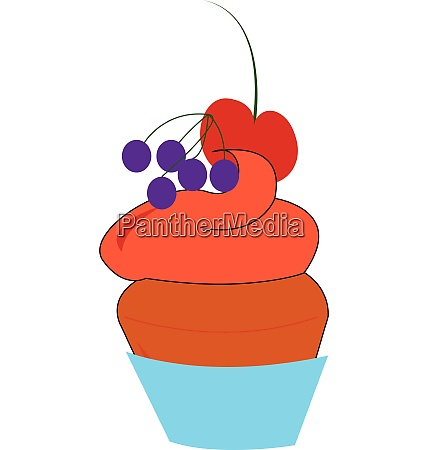 a berry cake vector or color
