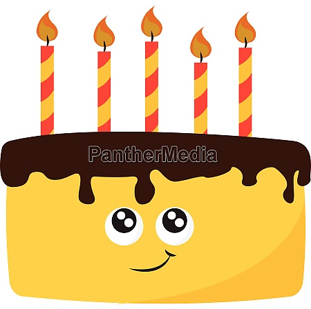 a birthday cake vector or color