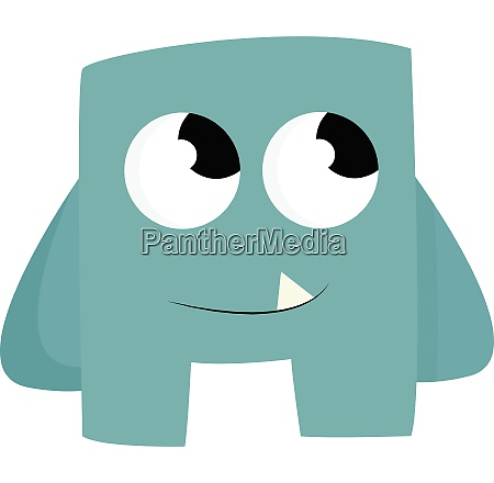 a blue baby monster vector or