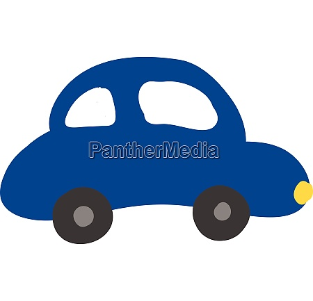 a blue colour car vector or
