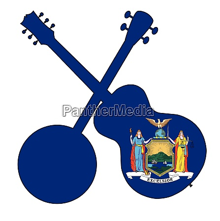 new york state flag banjo and