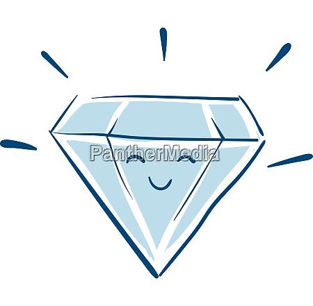 happy diamond vector or color illustration