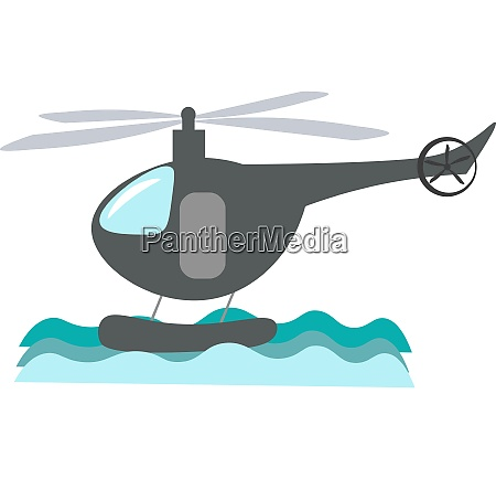 a helicopter vector or color illustration
