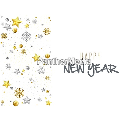 happy new year greeting card or