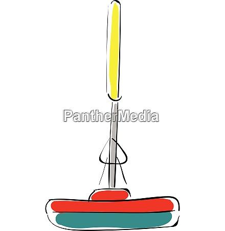 mop vector or color illustration