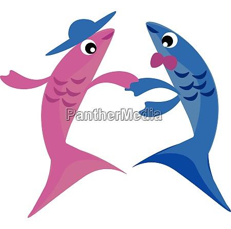 image of dancing fish two