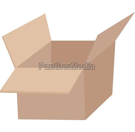 image of empty box corrugated