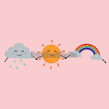 friends holding hands vector or color