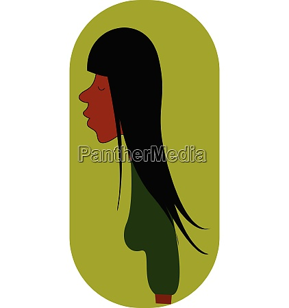 green blouse vector or color illustration