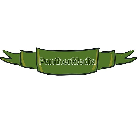 green ribbon vector or color illustration