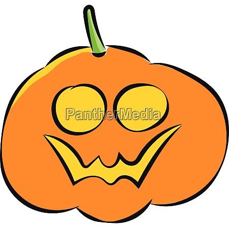 halloween pumpkin vector or color illustration