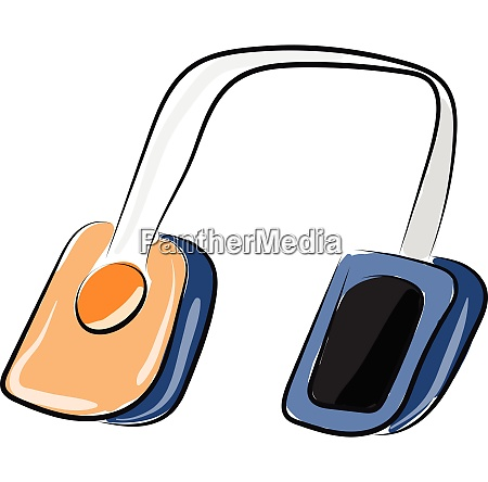 man with headphone vector or color