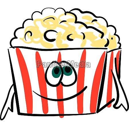 a joyful popcorn packet vector or