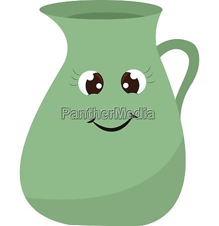 a smiling jug vector or color