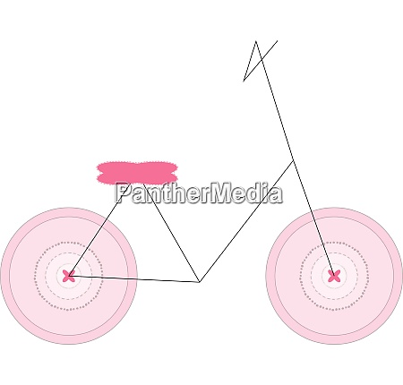 minimalistic girl bicycle vector or color