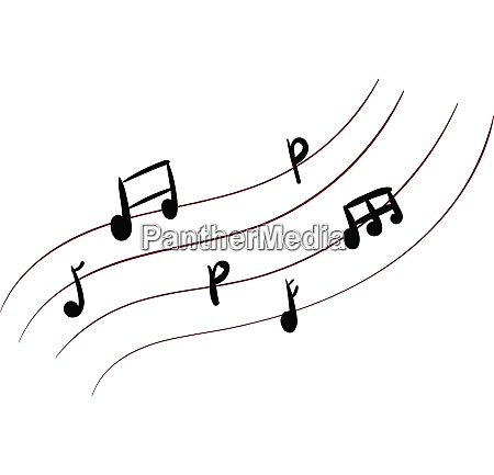 music notes vector or color illustration