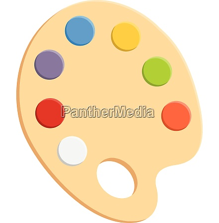 painting palette vector or color illustration