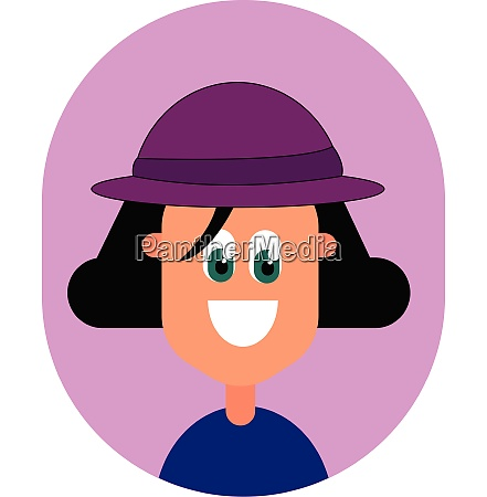 girl with pink hat vector or
