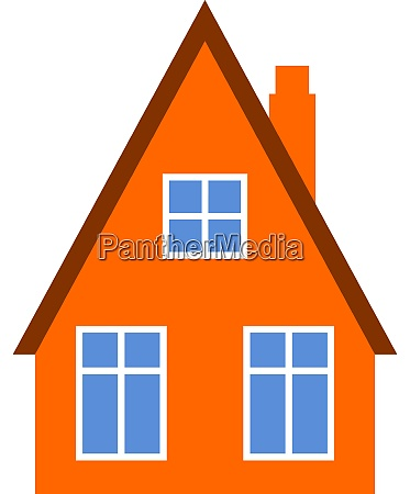 red house illustration vector on white