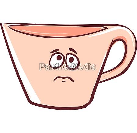 sad cup vector or color illustration