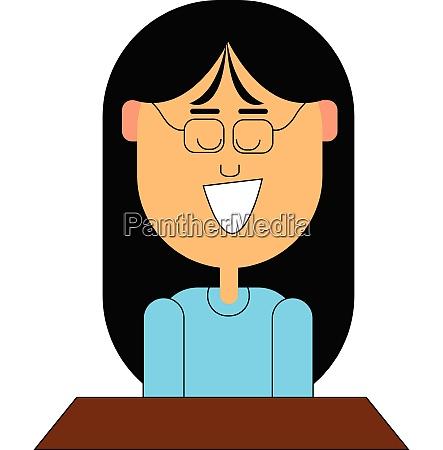 school girl vector or color illustration