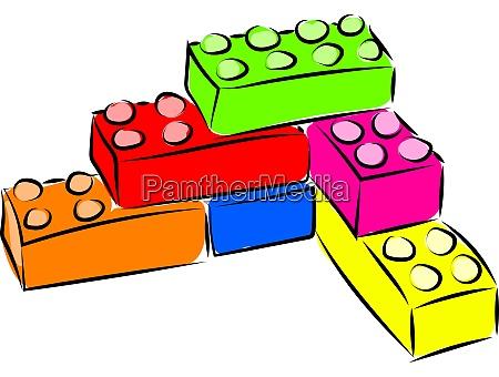 lego illustration vector on white background