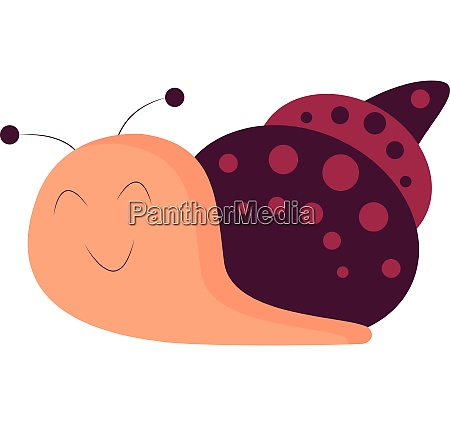 pink and purple snail vector or