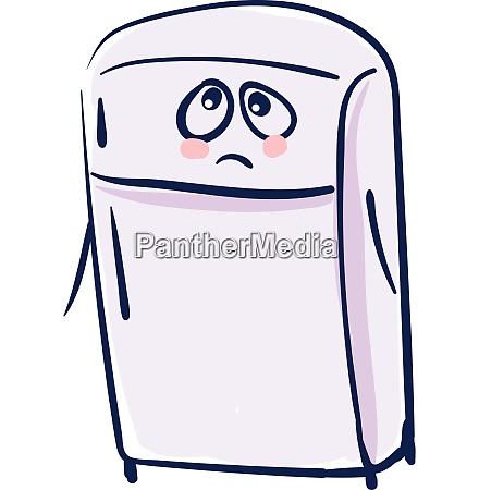 sorrowful fridge vector or color illustration