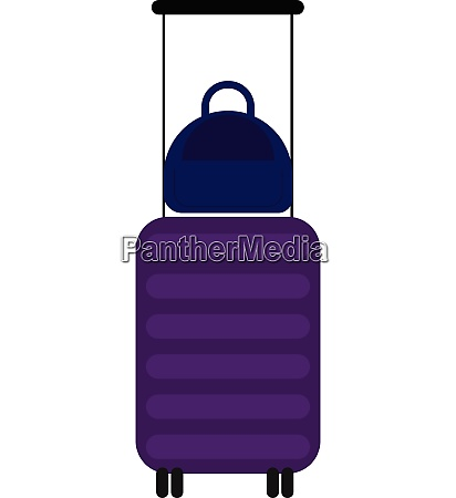 suitcase vector or color illustration