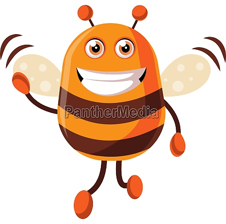 bee is waving illustration vector on