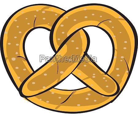 pretzel illustration vector on white background