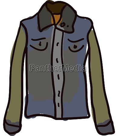 jean jacket illustration vector on white