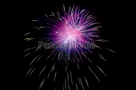 small violet sparkling fireworks background on