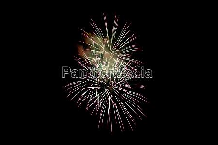 white pink sparkling fireworks background on