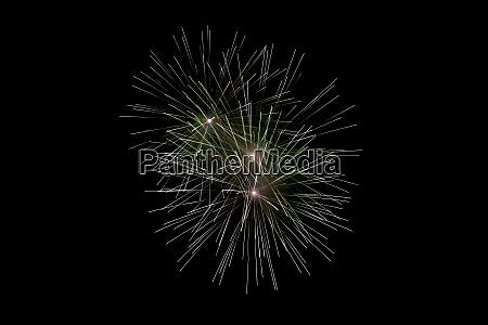 white sparkling fireworks background on night
