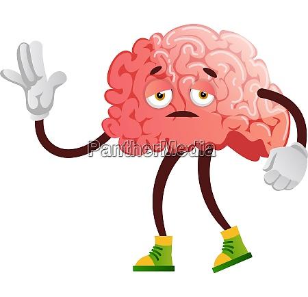 brain is feeling sleepy illustration vector